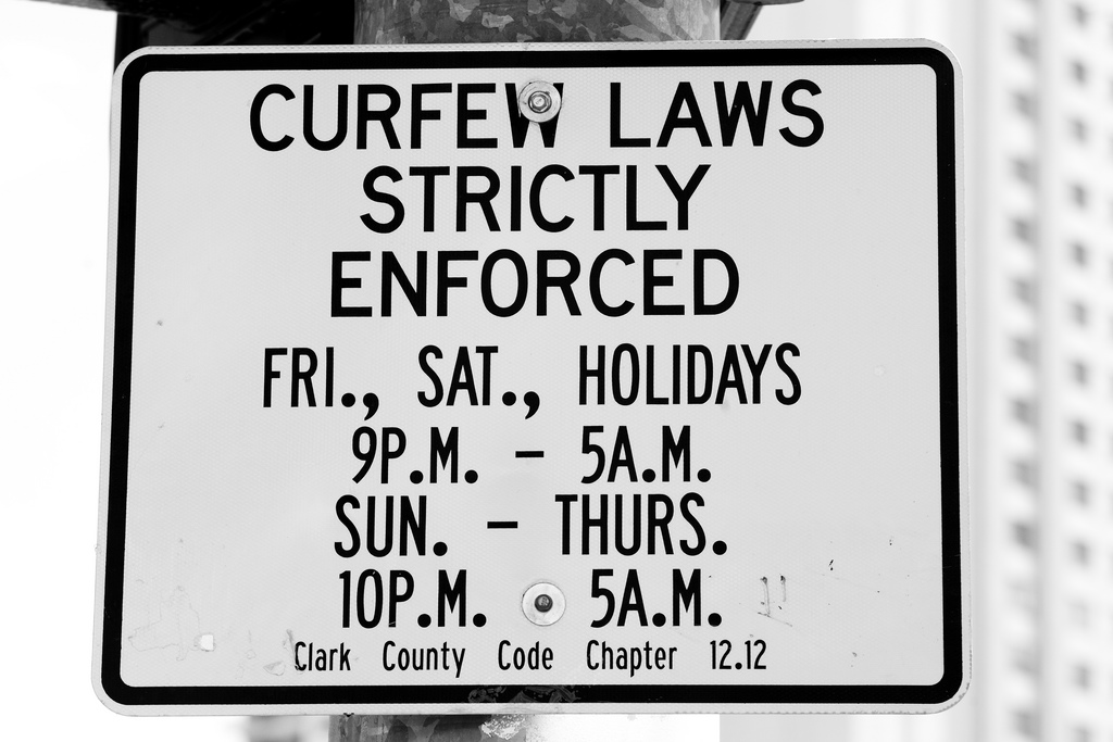 teen curfew laws being enforced A curfew limits late night freedom out for safety's sake.