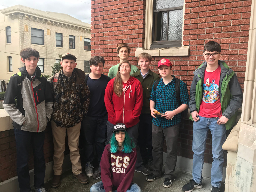 Nine members of the Portand Student Rights Union: A NYRA Chapter