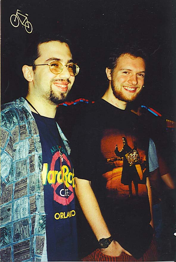 Avi Hein, freshman in college in 1999 with Alex Koroknay-Palicz